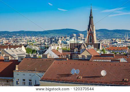 Vienna City Skyline , Austria