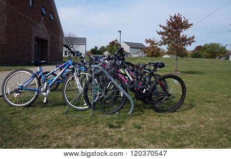 School Bicycle Rack