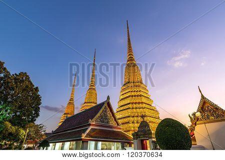 Wat Pho Temple , Bangkok , Thailand