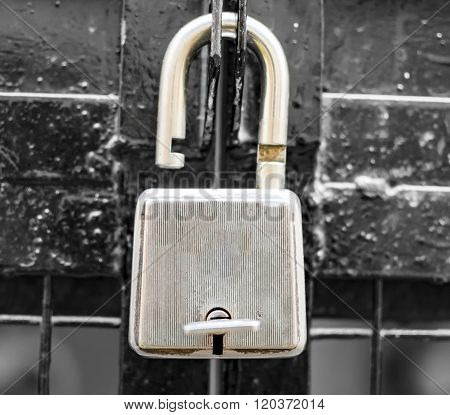 Unlocked Lock On The Gate