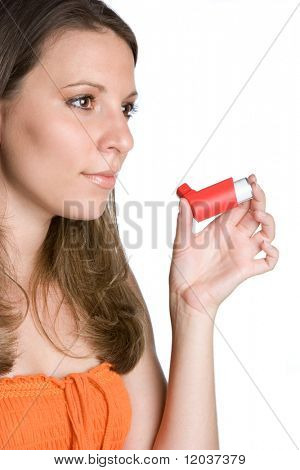 Woman Holding Inhalator