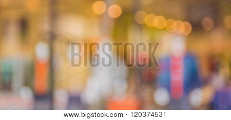 Abstract Blur Background Image Of People Shopping And Walking In Shopping Street.
