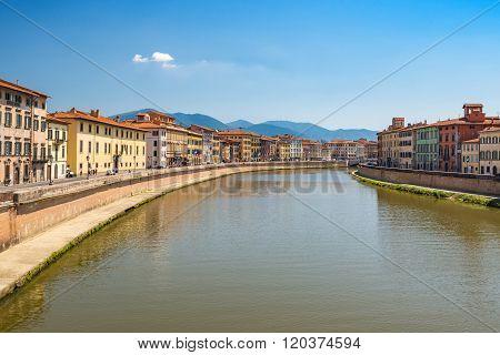 Pisa City Skyline , Italy