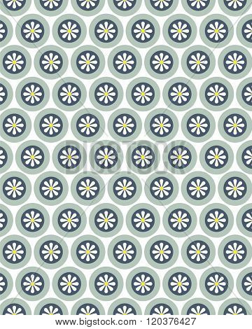 Vector retro floral wall paper and pattern