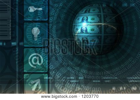 E-Business Concept Background - Blue