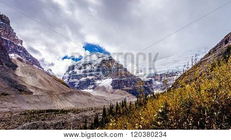 Mount Lefroy and The Mitre