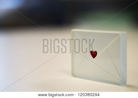 Glass Envelope with a Heart