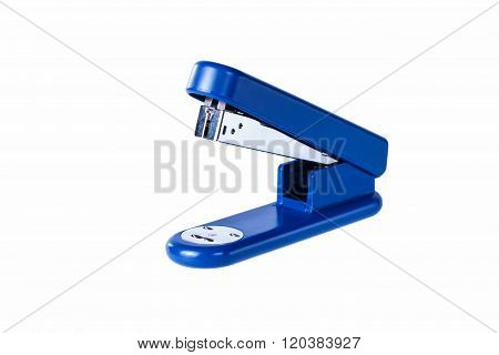 stapler bright red thermos on a white background