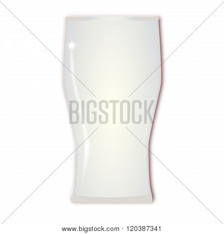 Empty Tall Beer Glass