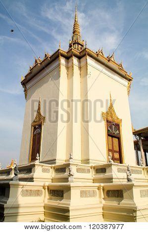 Royal Palace Temple In Phnom Penh.