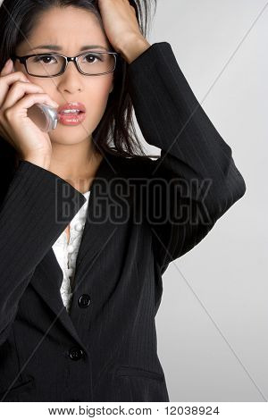 Frustrated Businesswoman on Phone