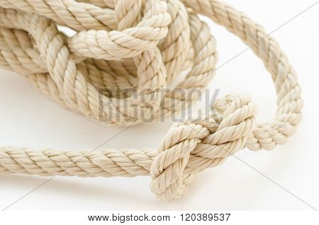 Close Up Rope On White.