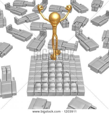 Cube Head Pyramid