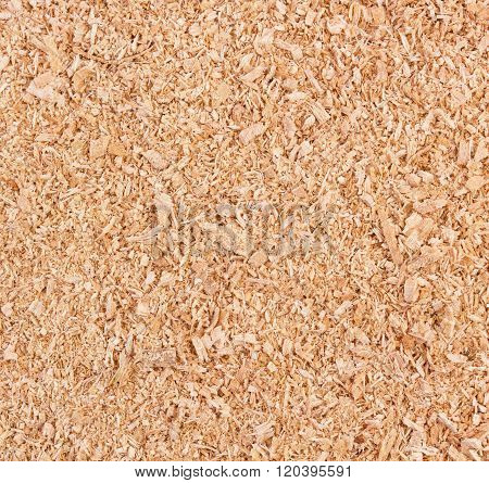 Golden Wood Sawdust Texture Background shoot. Construction.