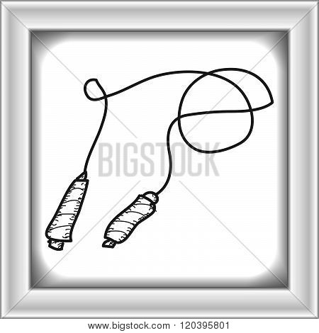 Simple Doodle Of A Skipping Rope