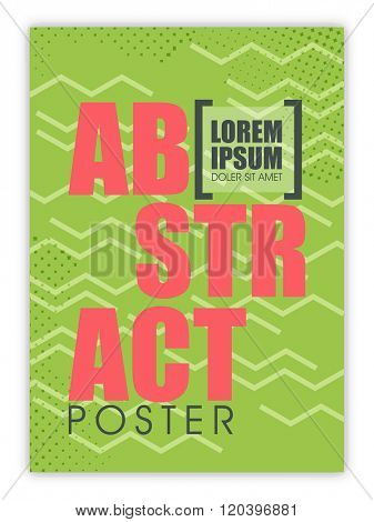 Abstract design decorated Poster, Banner, Flyer or Pamphlet for your Business.