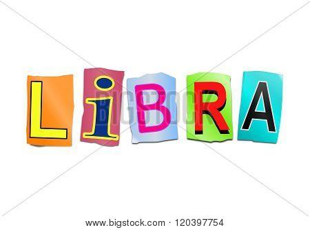 Libra Word Concept.