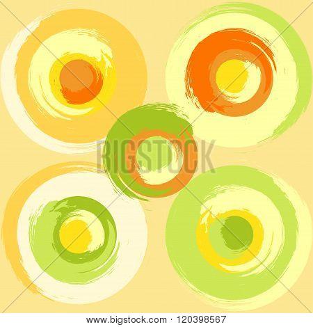 Big Grunge Multicoloured Circles
