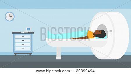 Magnetic resonance imaging.