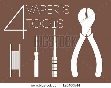 4 One Color Vaper Tools Set