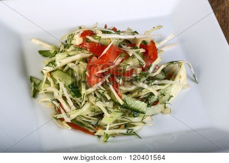 Salat With Cabbage And Cucmber