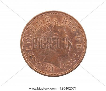 Two Pence Coin Isolated