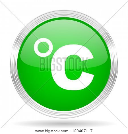 celsius green modern design web glossy icon