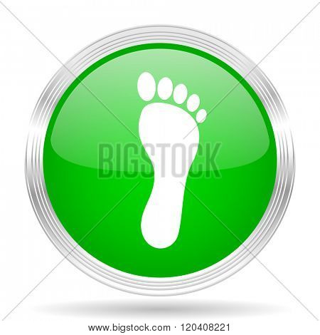 foot green modern design web glossy icon