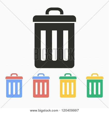 Bin vector icon. Illustration isolated on white background for graphic and web design.