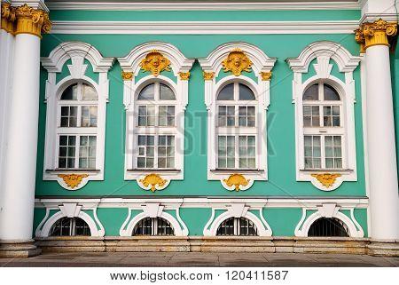 Winter Palace of Saint Petersburg. Hermitage. Landmark of Russia.