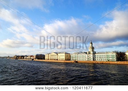 Panoramic view of historical centre of Saint Petersburg.
