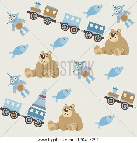Seamless pattern of baby toys2