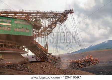 Huge coal mining, coal machine