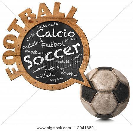 International Football - Speech Bubble