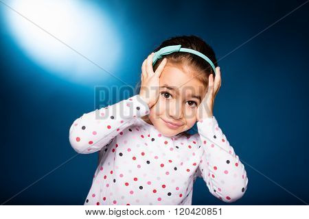 Girl With Green Headband With Bow