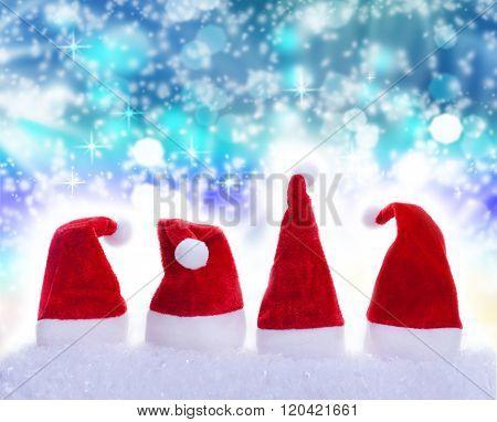 Christmas Hats, Snowflakes