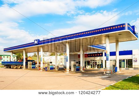 Tnk Gas Station. Tnk Is One Of The Largest Russian Oil Companies