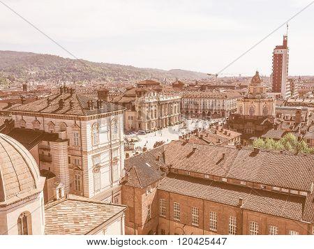 Retro Looking Piazza Castello Turin