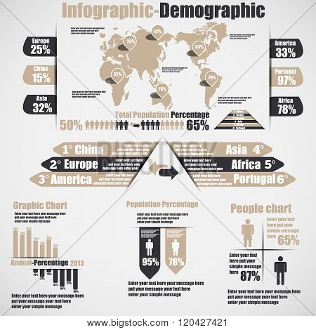 Infographic Demographic New Style 10 Brown