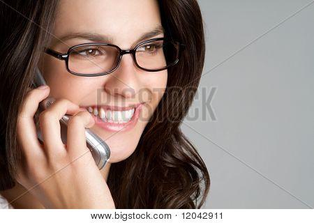 Eyeglasses Woman Using Phone
