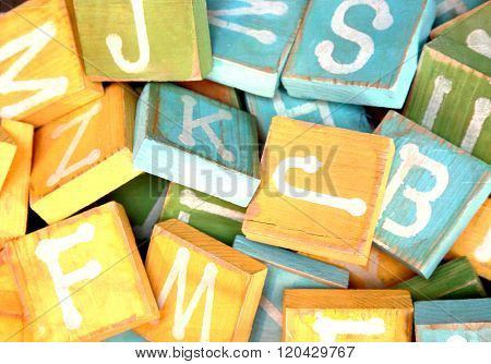 Baby Building Blocks with Letters