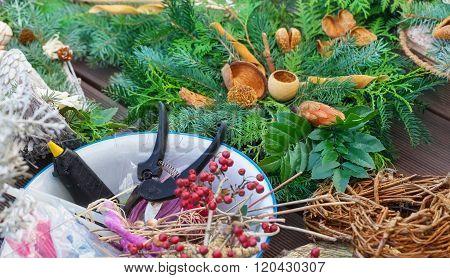 Advent Floristry, Garden Scissors, Glue Gun