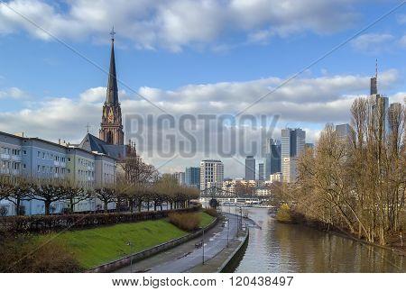 View Of Dreikonigskirche, Frankfurt