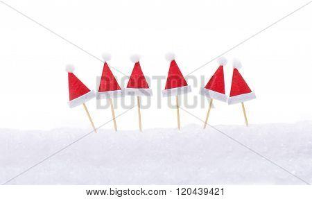 Christmas Hats, Santa Hats, Toothpicks