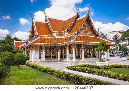 Loha Prasat Metal Palace in front of Wat Ratchanatda on Ratchadamnoen Road, Bangkok, Thailand.