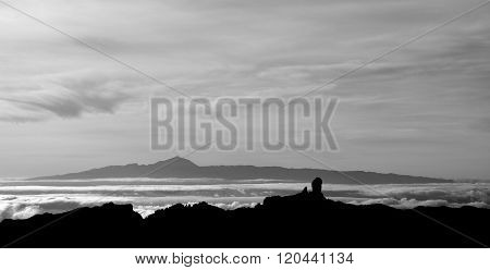 Canary islands, monochrome effect