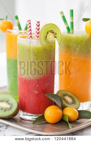 Smoothie Made From A Variety Of Fruits
