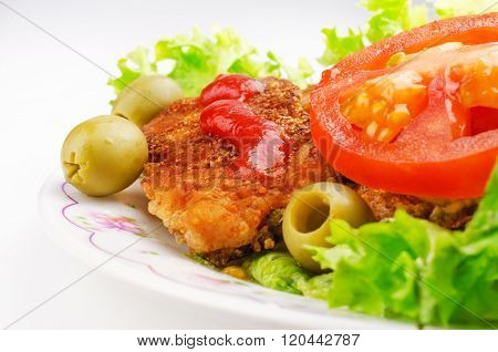 Pork Chop With Salad