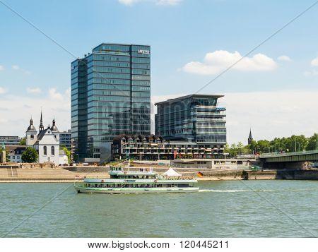 Rhine River Embankment, Cologne, Germany