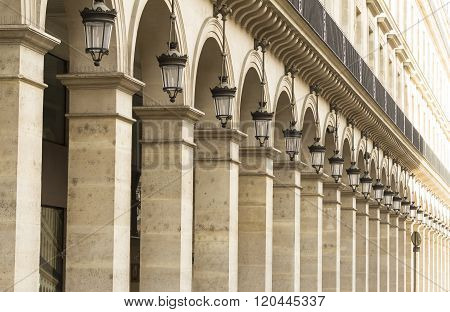 The Arcades Of Rivoli Street In Paris.